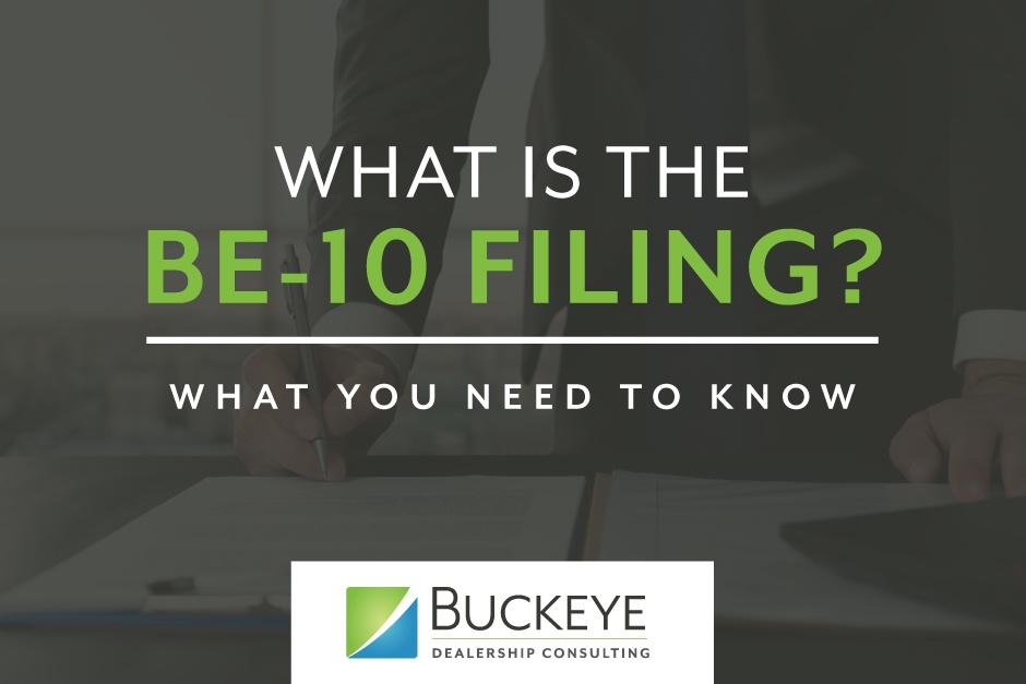 Notice Of Reporting Requirement Form Be-10 Issued By The Bureau Of Economic Development