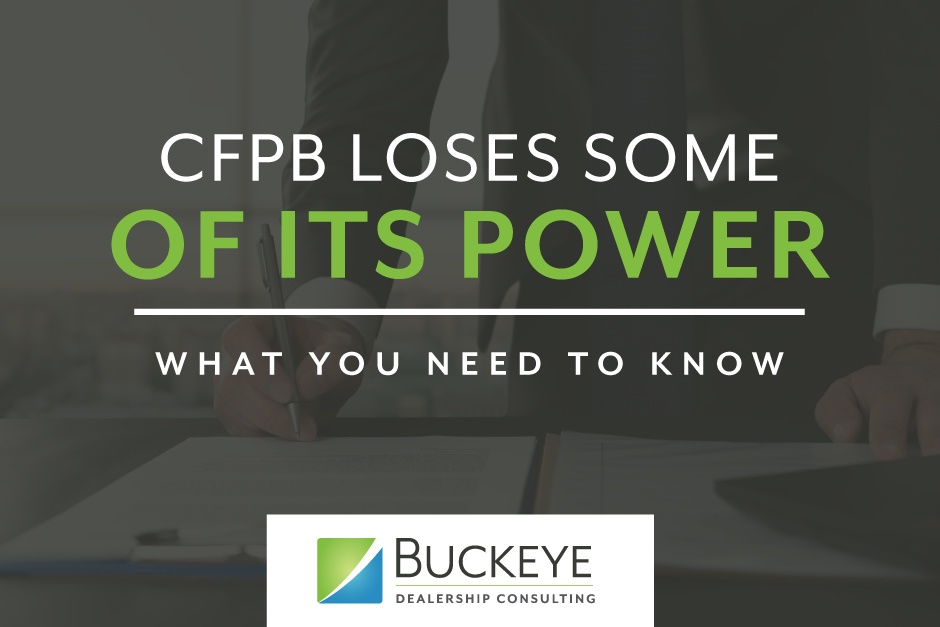 CFPB loses some of its power